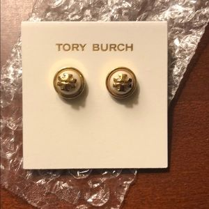 Tory Burch gold and white/cream earrings, VGUC